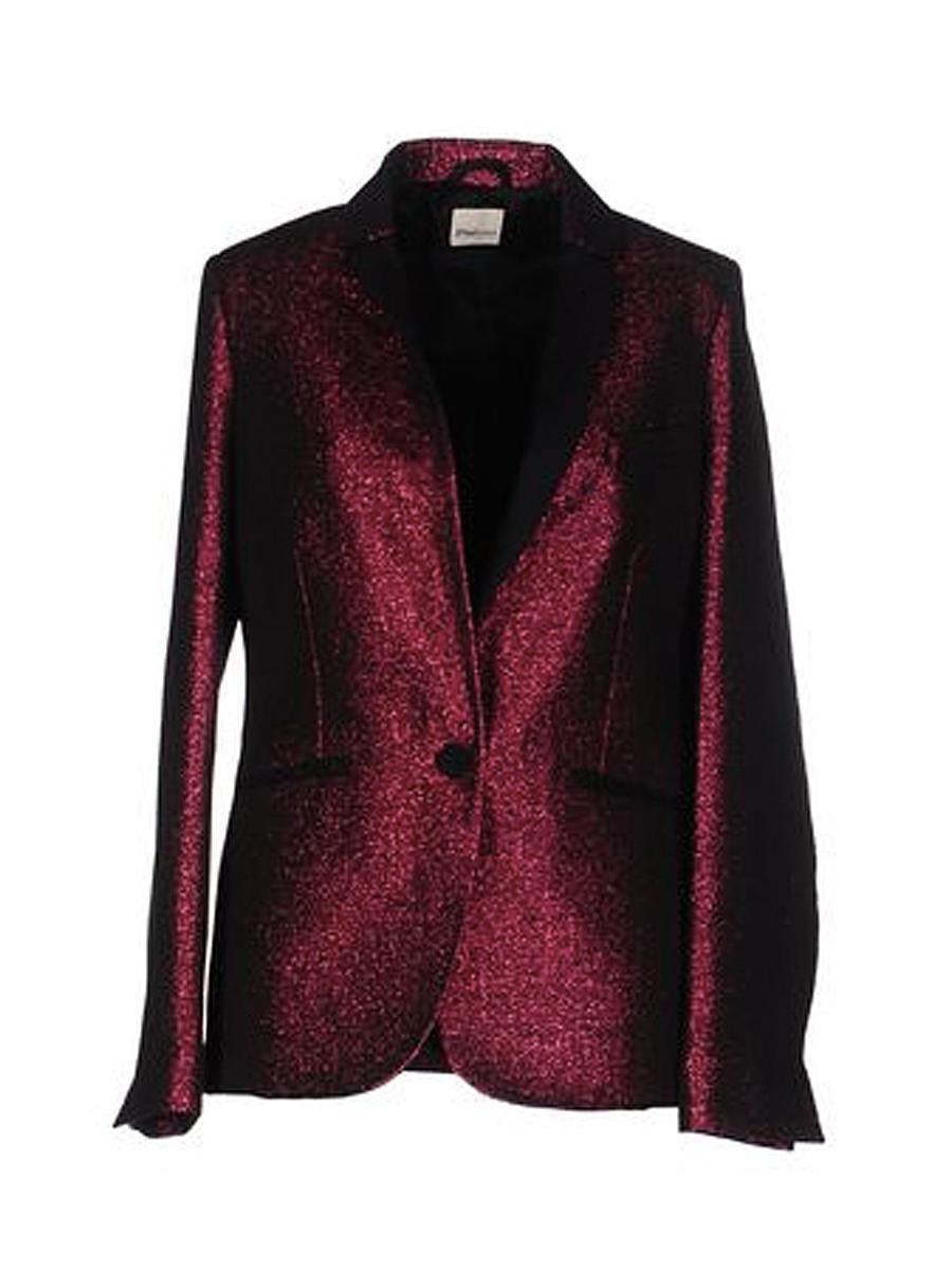 Maroon glitter blazer from Yoox.com