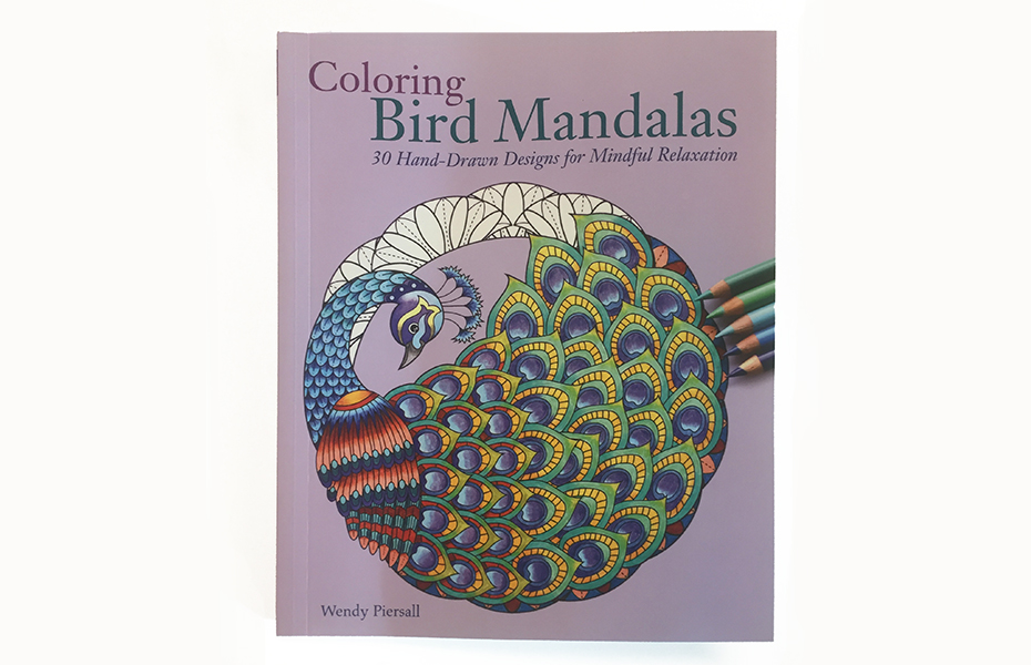 Coloring Bird Mandalas coloring book cover