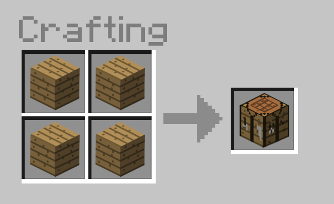 Minecraft how to craft pickaxes furnaces crafting tables - Crafting table on minecraft ...