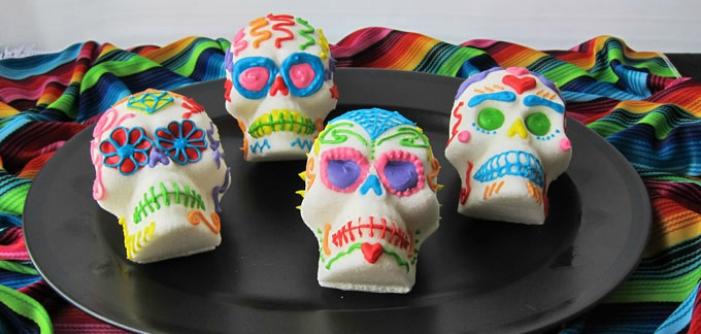 día de los muertos sugar skull inspired treats
