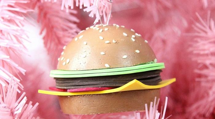 DIY hamburger ornament