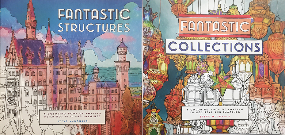 Fantastic Collections Structures Coloring Book Cover