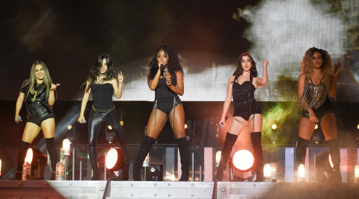 Fifth Harmony performing on stage