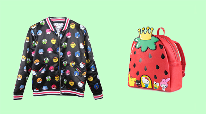 Hello Sanrio bomber jacket and backpack