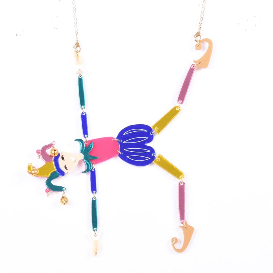 Jester necklace from La Vidriola