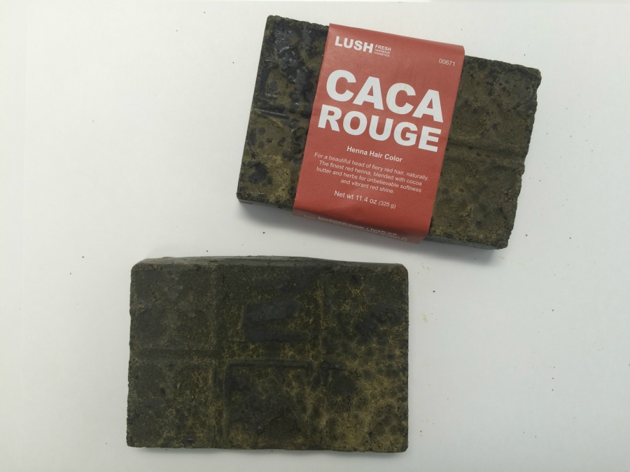 Lush Henna Hair Dye in Caca Rouge