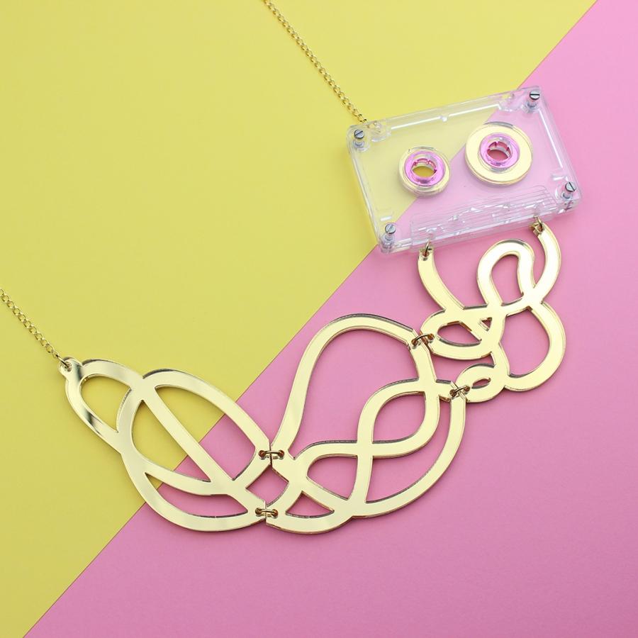 Mixtape necklace from La Vidriola