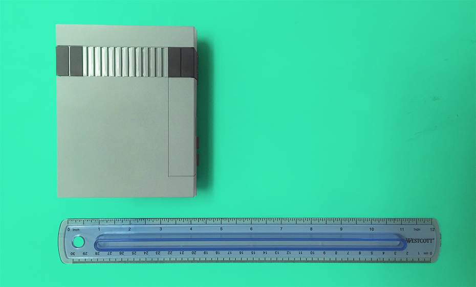 NES Classic Edition size next to ruler