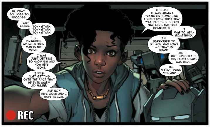 Riri Williams takes over as Iron Man