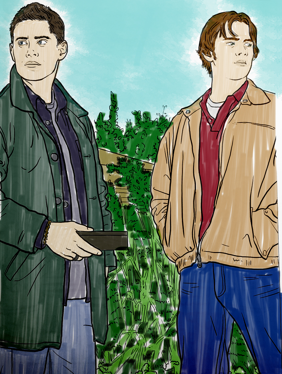 Supernatural coloring book: Dean and Sam
