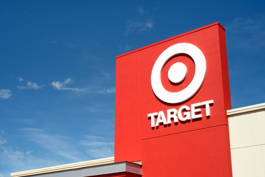 Target store logo and blue sky