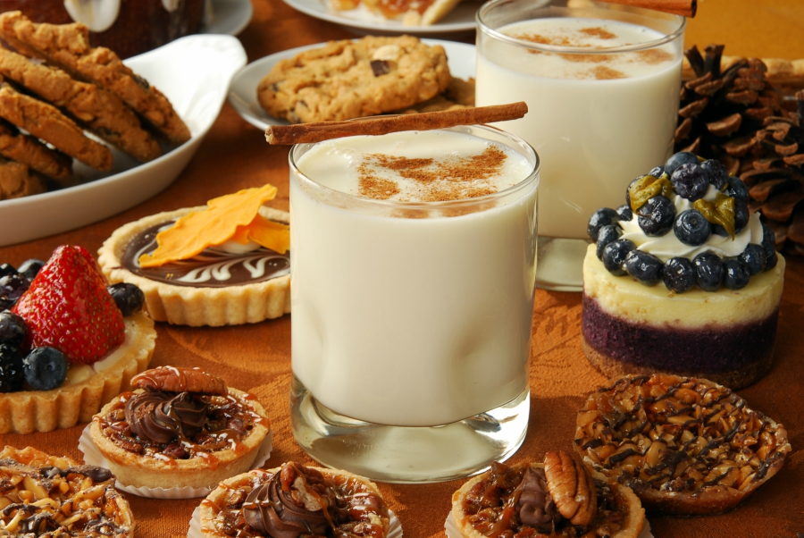 Assortment of Thanksgiving desserts