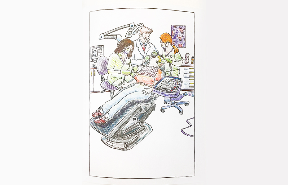 This Annoying Life coloring book: dentist's chair