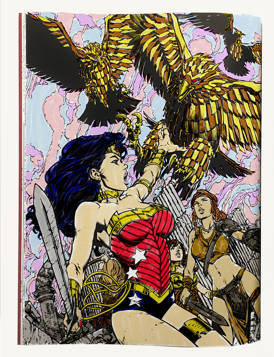 Wonder Woman coloring book page