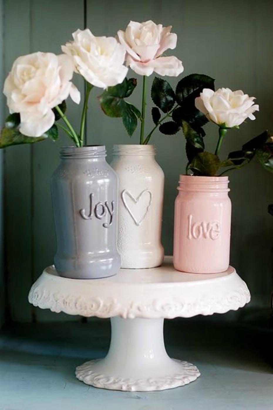 DIY Jar vase