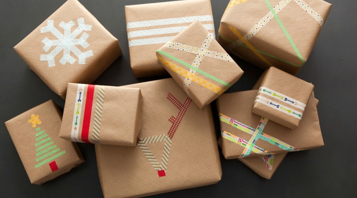 washi tape gift wrap featured