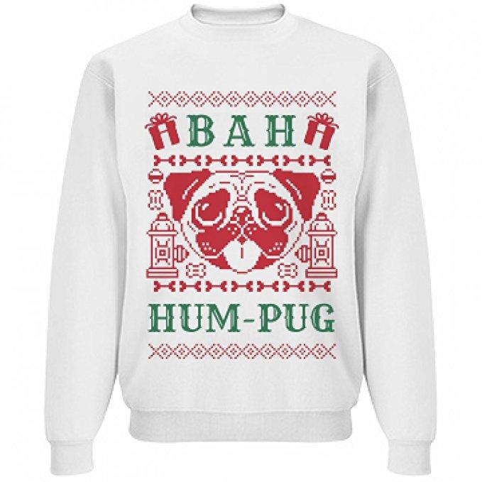 Bah Hum Pug Holiday Sweater