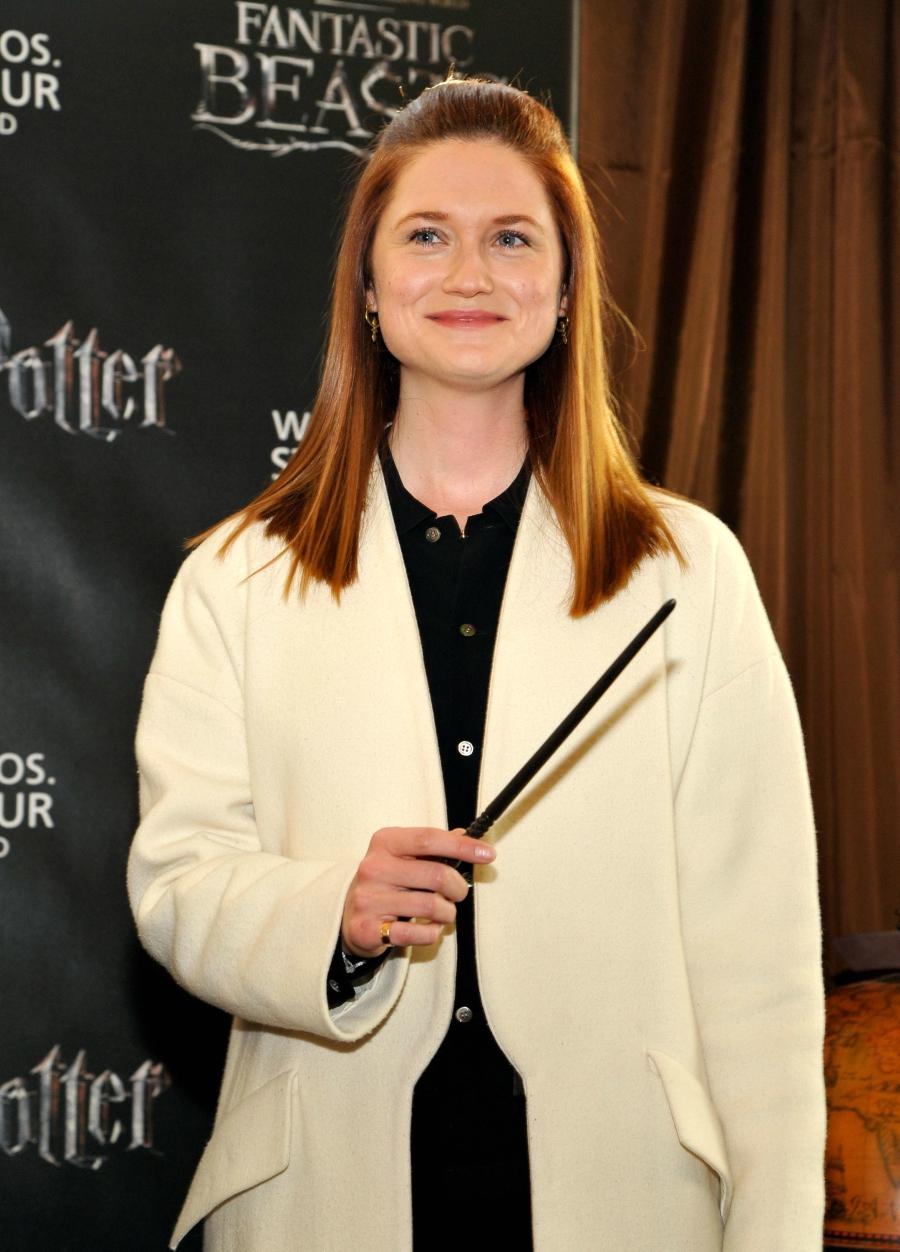 Bonnie Wright at the Warner Bros. Studio