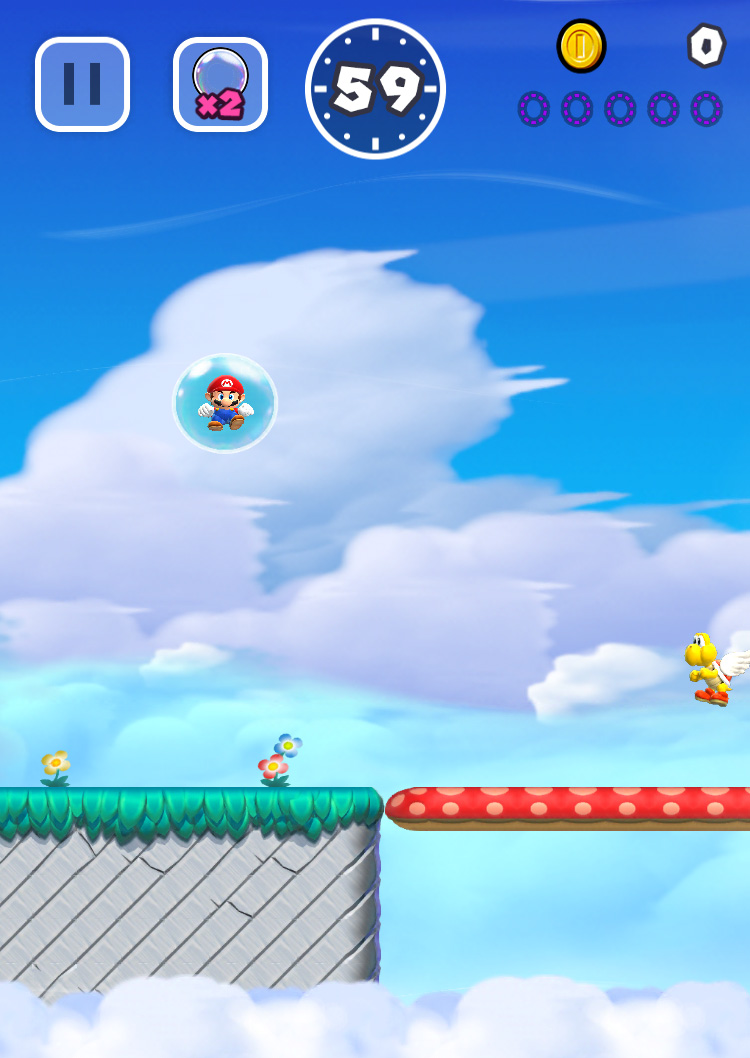 Super Mario Run: Bubbling up