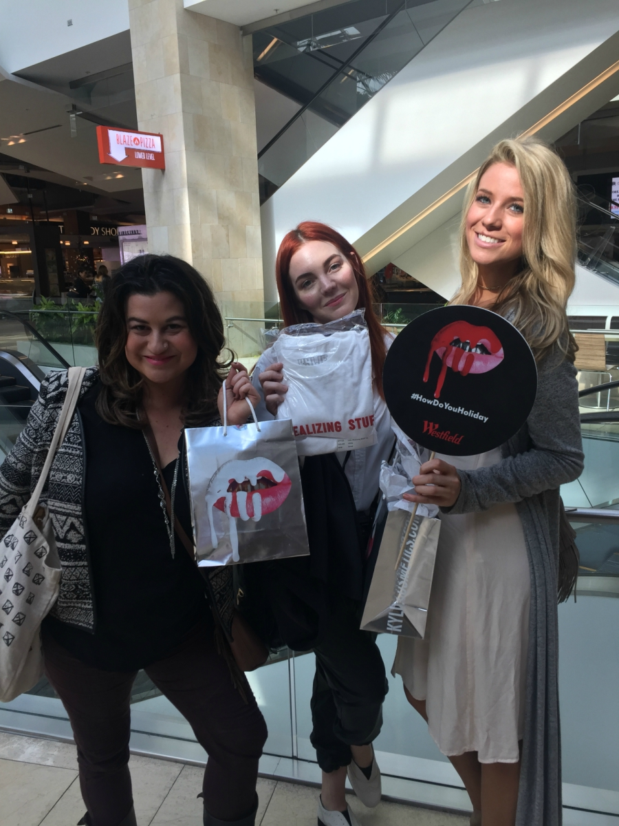 Dahvi, Sarah, Allison at Kylie Cosmetics Pop Up