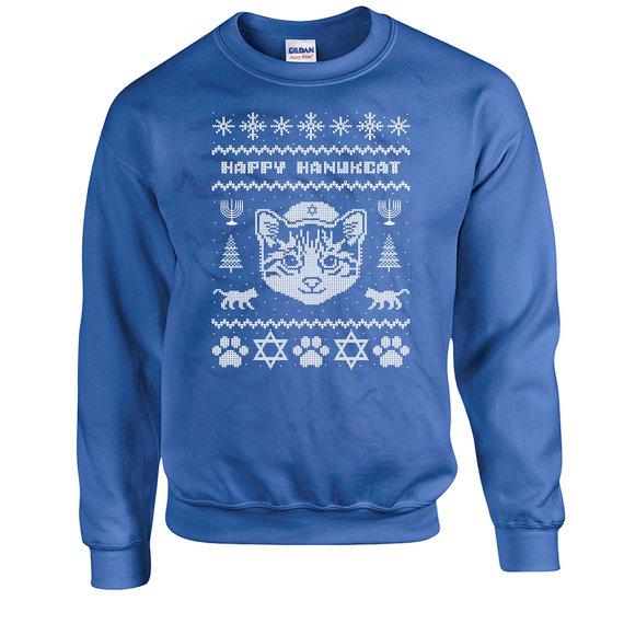 Happy Hanucat Sweater