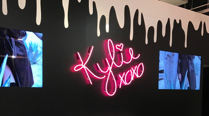 Kylie xoxo bed inside Kylie pop-up shop