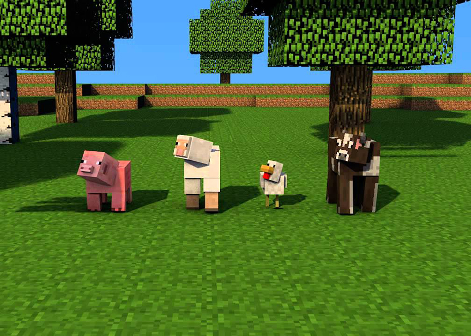 Image of: Pig via Mojang Sweety High How To Tame Wolves Ocelots Horses Cows Pigs In Minecraft