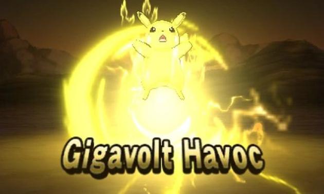 Pikachu Z Move Gigavolt Havox