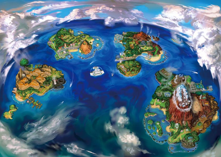 Pokémon Sun and Moon Alola region