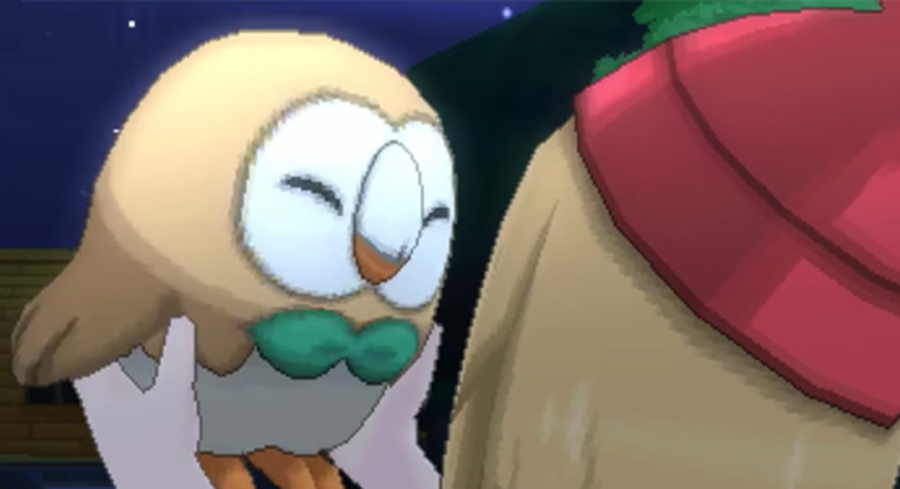 Picking Rowlet in Pokémon Sun and Moon