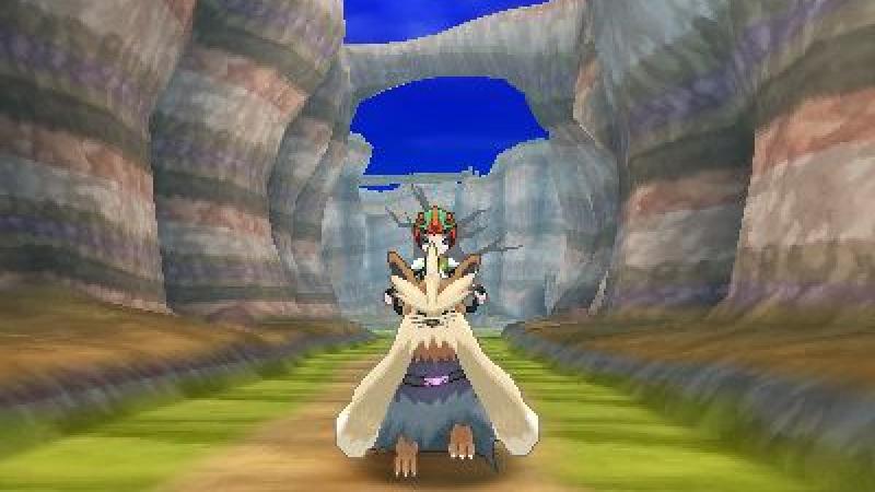 Riding Stoutland in Poké Ride in Pokémon Sun and Moon