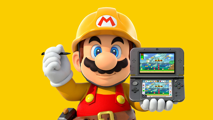 Mario with Super Mario Maker for Nintendo 3DS
