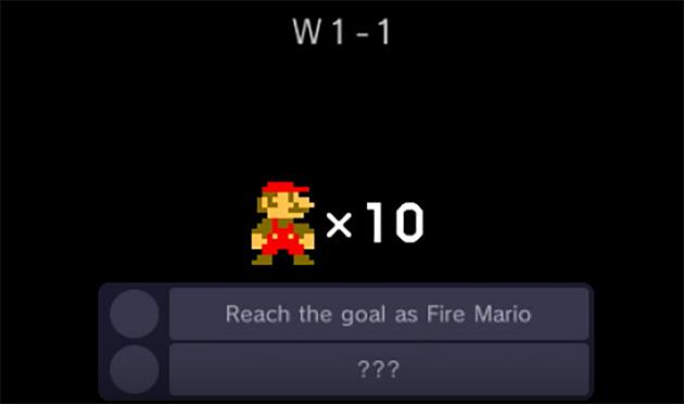 Super Mario Challenge goal