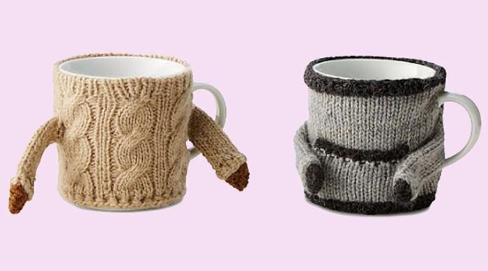 Mugs in sweaters