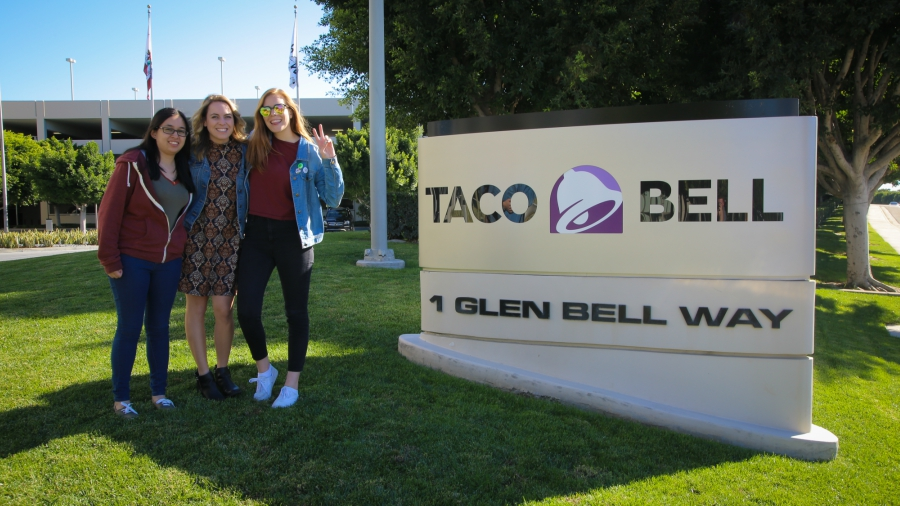 Sweety High staff visiting Taco Bell