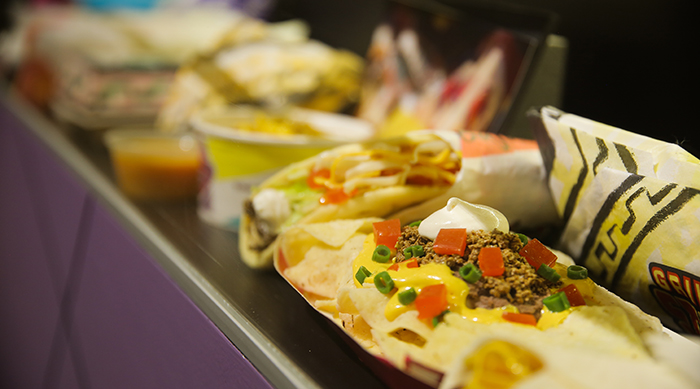 Taco Bell fake food on display