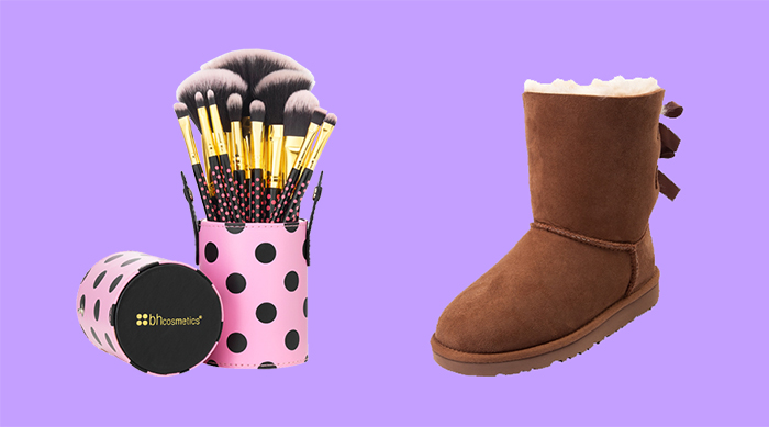 UGG boots and BH Cosmetics makeup brushes