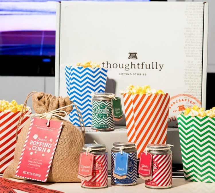 Thoughtfully popcorn lovers gift set