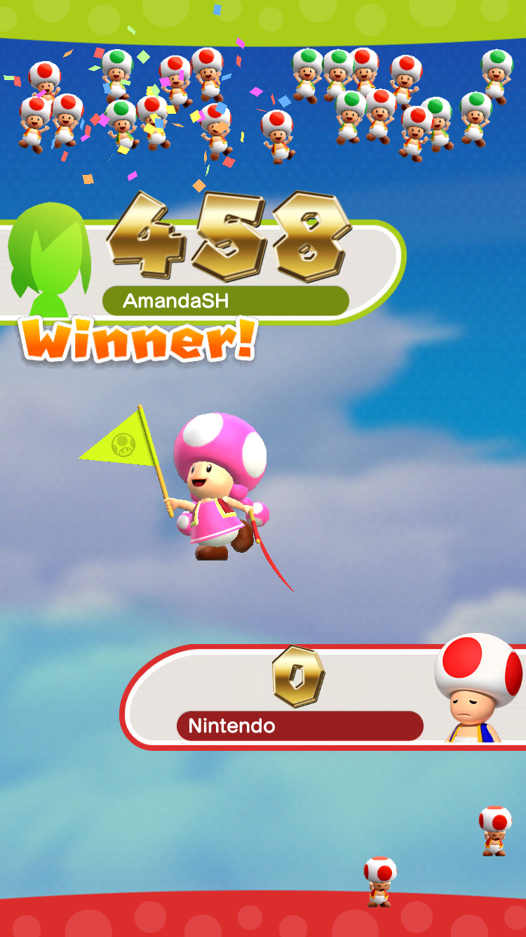 Super Mario Run: toad rally announcement