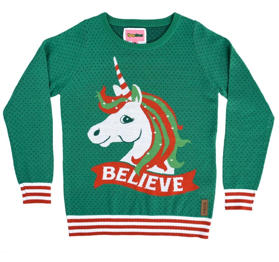 Unicorn holiday sweater