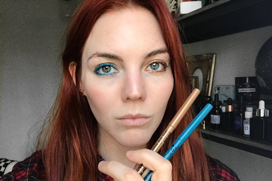 Bella Thorne look with eye pencils from NYX