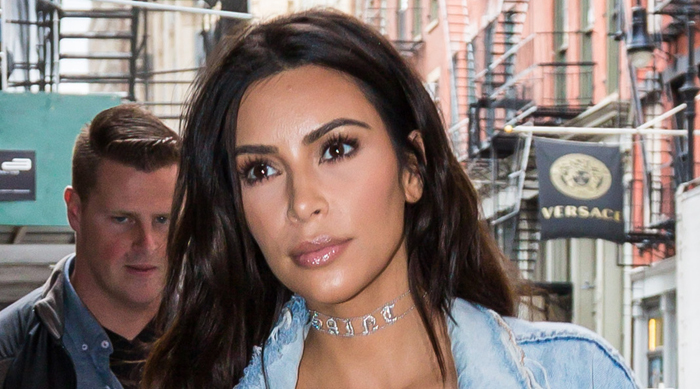 Kim Kardashian wearing a natural makeup look