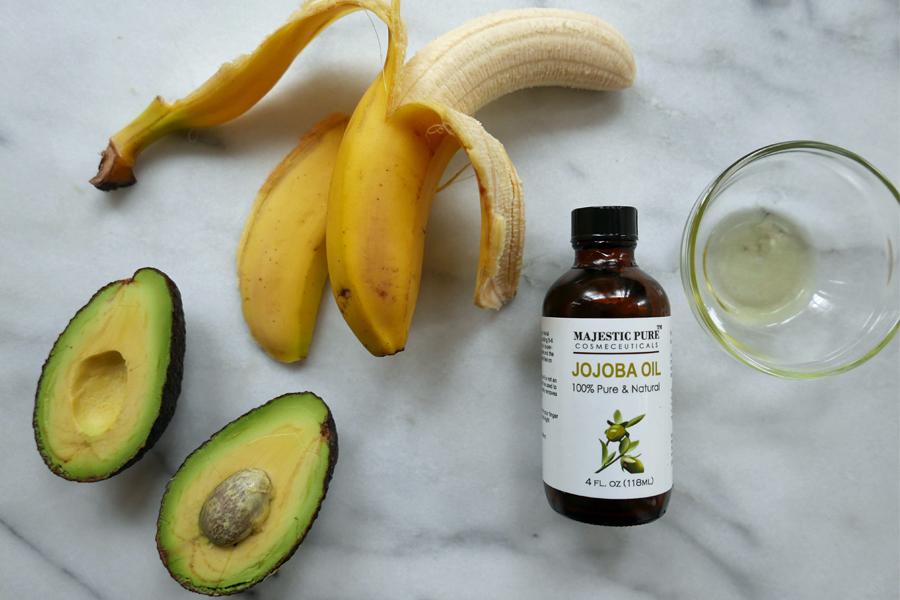 Mask 1 avocado banana jojoba oil