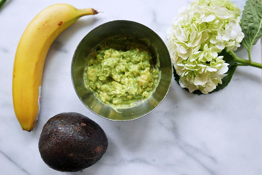 Mask 1 final with avocado jojoba oil and banana