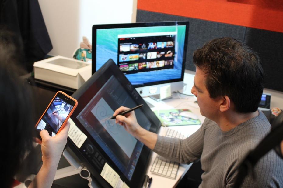 Butch Hartman draws for us at Nickelodeon Animation Studios
