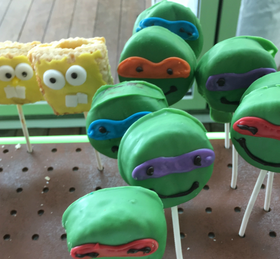 Cake pops at Nickelodeon Animation Studios