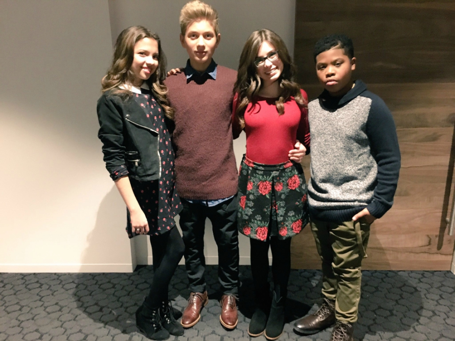 Game Shakers cast at Nickelodeon Animation Studios