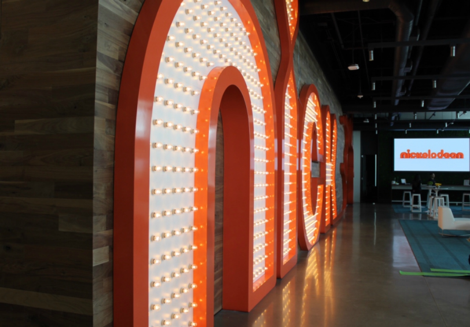 lobby at Nickelodeon Animation Studios