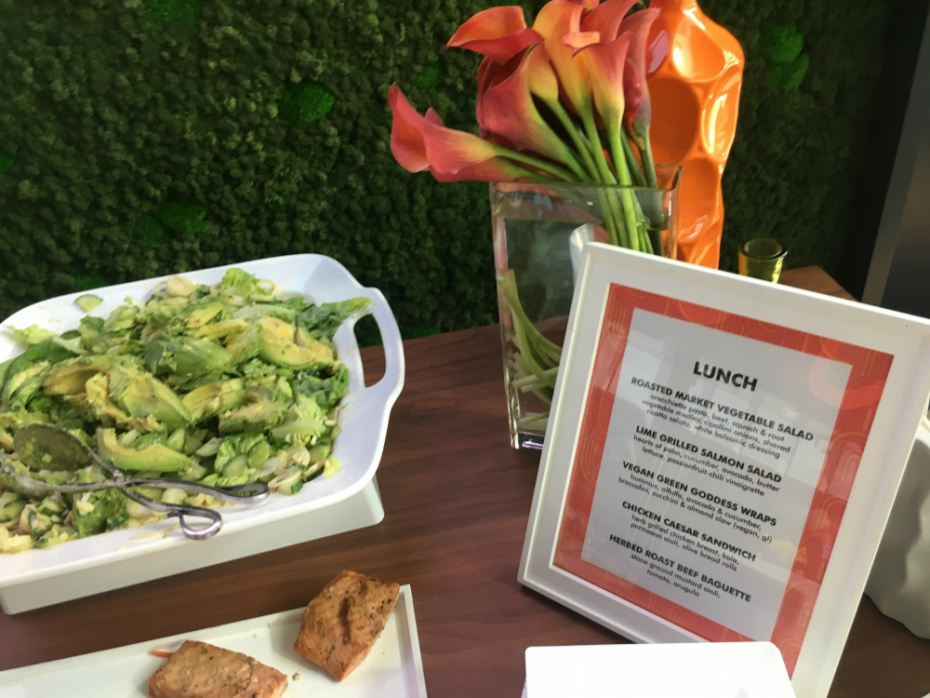 lunch menu at Nickelodeon Animation Studios