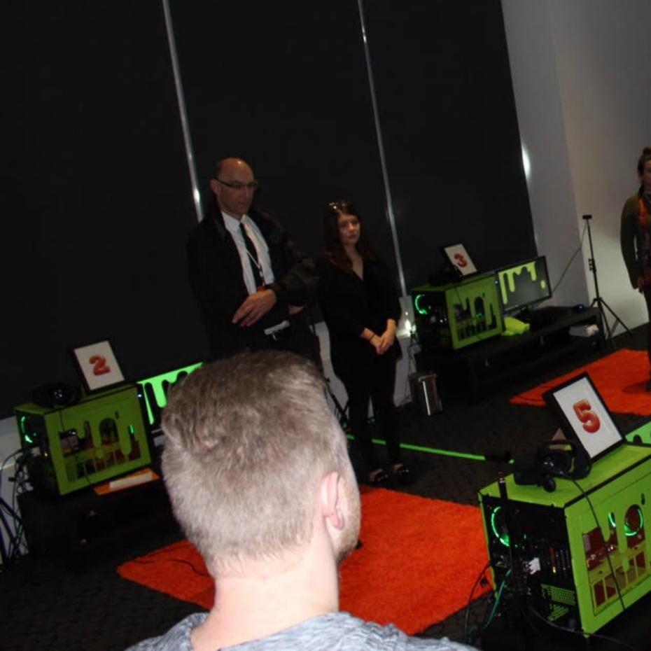 Virtual reality game at Nickelodeon Animation Studios
